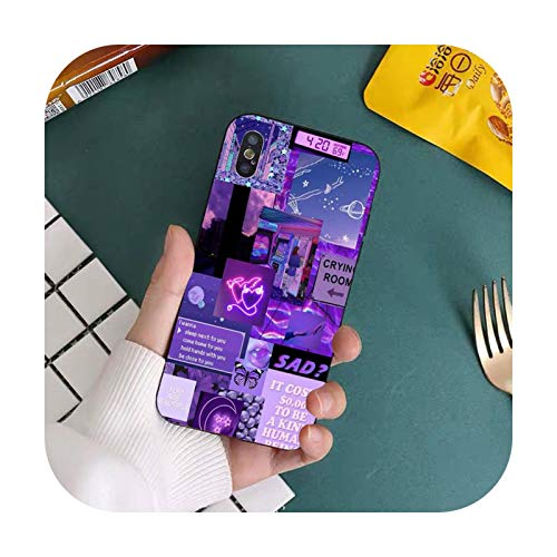 Double-sweet Purple Love Aesthetic Art Girly Handyhülle für iPhone 11 12 Pro XS MAX 8 7 6 6S Plus X 5S SE 2020 XR Cover-a14-For iPhone 11 Pro