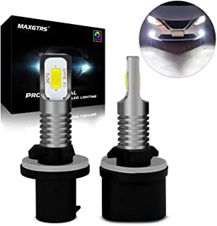 MAXGTRS 72W 880 3570 CSP-Chips LED Fog Light 6000K Xenon White 884 885 890 892 893 899 H27 Error Free CANBUS Use For Fog Bulbs - High Power Extremely Bright LED Fog Lamp