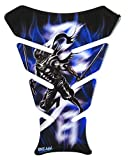 Tankpad 3D–500975–Ninja épée de Blue/Bleu/Samurai/– universel pour Yamaha Honda, Kawasaki, Ducati, Suzuki,, KTM, BMW, Triumph et APRILIA réservoirs