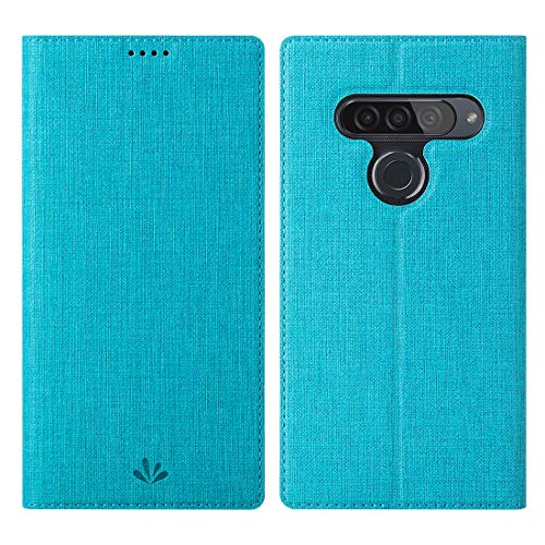 Eastcoo LG G8s ThinQ Hülle,LG G8s ThinQ Wallet Handyhülle PU Leder Flip Hülle Tasche Cover Schutzhülle mit [Standfunktion][Magnetic Closure][Card Slots] für LG G8s ThinQ Smartphone,Blau
