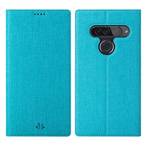 Eastcoo LG G8s ThinQ Hülle,LG G8s ThinQ Wallet Handyhülle PU Leder Flip Case Tasche Cover Schutzhülle mit [Standfunktion][Magnetic Closure][Card Slots] für LG G8s ThinQ Smartphone,Blau