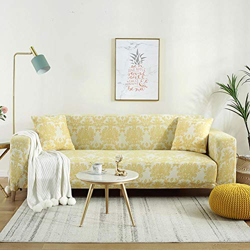 Fsogasilttlv Stretch Sofa Covers Fabric Washable 2 Seater and 3 Seater,Printed L Shape Sofa Covers For Living Room, Protector Stretch Covers For Corner Sofa Cover T 2PCS 145-185cm and 190-230cm