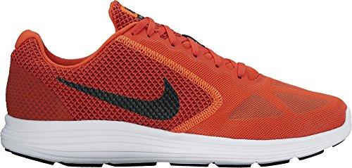 Nike Revolution 3, Zapatillas de Running Hombre, Naranja (Max Orange/black/dark Cayenne), 45 1/2 EU