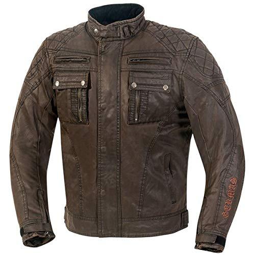 GERMAS Retro/Vintage/Bike Chaqueta/waxcot Ton Austin, color marrón, tamaño M