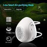 Maschera elettrico respiratore, Anti-Pollution respiratore PM2.5 Maschera filtro di sport della bicicletta della polvere con ventola di protezione esterna aria respirabile purificatore, con 4PCS filtr