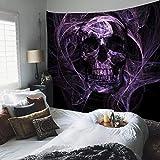 N/A Impresión 3D De Tapices Psychedelic Skull Tapestry Bohemian Home Decor Blanket Tela De Pared Grande Dormitorio Backdrop Tapiz Decoración 130 Cm X 150 Cm