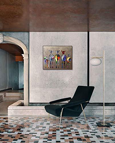 DIY Schilderen op nummerkinderen schilderen kitVijf graffiti zebra handgeschilderde frameloze schilderijen 40x50cm