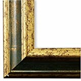 Bilderrahmen Grün Gold 50 x 60 cm 50x60 - Antik, Barock, Shabby - Alle Größen - handgefertigt - Galerie-Qualität - LR - Genua 4,3 - Massiv-Holz