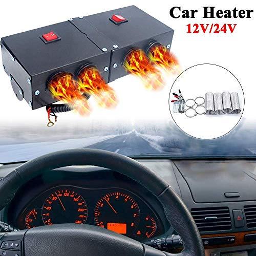 Kit de chauffage de voiture Riloer dégivrage de ventilateur de chauffage rapide haute puissance pour pare-brise d'automobile dégivreur de pare-brise d'hiver 12V 500W