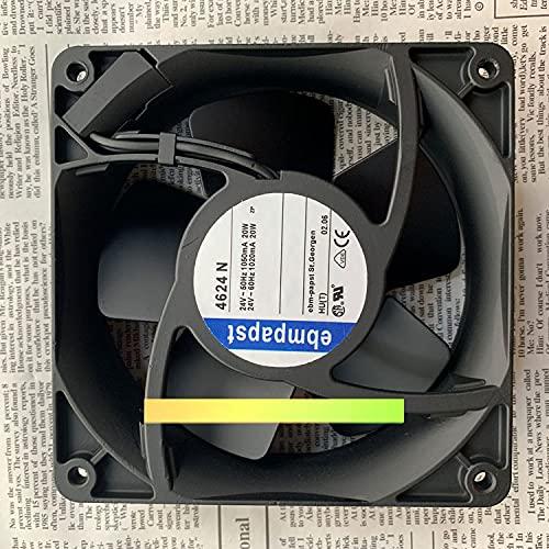 CYRMZAY Ventilador Compatible para ebmpapst TYP 4624N 24V 20W 12038 12CM Cooling Ventilador