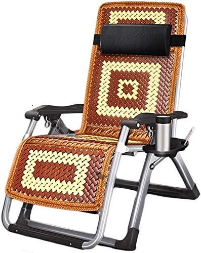 ZYLHC Chaise Longue Reclining extérieur Chaises Pliantes canapé Chaise Pause déjeuner Chaise Siesta Portable Chaise Adulte Maison d'été Chaise multifonctionnelle Confortable (Color : B)