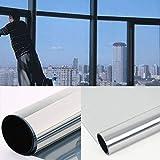 DiversityWrap Lámina adhesiva reflectante para ventana de espejo de una vía, 15% de privacidad, tintado de vidrio de 75,8 cm (0,8 m) (100 cm x 75,8 cm)