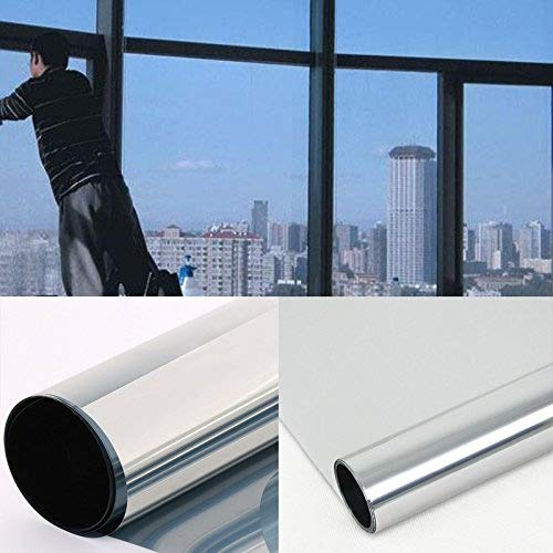 DiversityWrap - Lámina reflectante para ventana, efecto espejo, 15 % de privacidad, vidrio, 30 cm