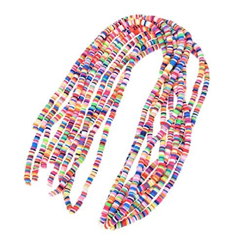 10 tiras de cuentas para joyas, pulseras, collares, hacer cuentas sueltas planas y redondas, arcilla polimérica, accesorios de ropa, bricolaje para hacer joyas, pulseras
