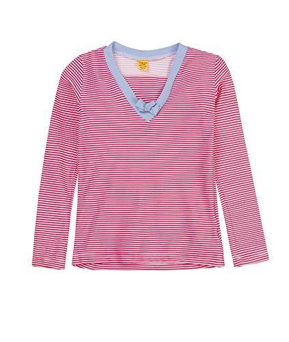 Steiff Sonnenschutzshirt 1/1 Arm 6837553 Vêtement de Bain, Mehrfarbig (y/d Stripe 0001), 7 Ans Fille