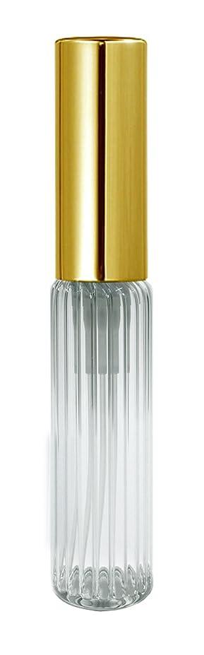 わずかに特殊彫刻家60501 グラスアトマイザー ストライプ ゴールドキャップ