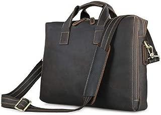 Mens Bag Leather Portable Diagonal Shoulder Bag Leather Computer Bag Leather Business Men's Bag High capacity