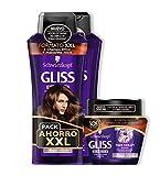 Gliss - 2 Champús 400 ml + Mascarilla Fiber Therapy - Schwarzkopf