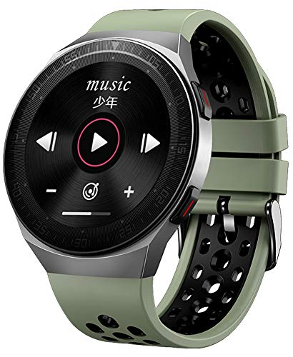 XWZ Fitness Tracker Smart Watch Hombres Actividad Fitness Tracker SmartWatch Bandas Pulsera Deportiva Bluetooth Llamada Pantalla táctil Completa Memoria Impermeable Música,Verde