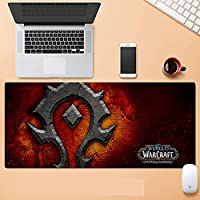World of Warcraft特大ゲーム用キーボードマウスパッド ノンスリップ防水ジェルリストマット(World of Warcraft)-900X400X3MM-E_800*300*3MM
