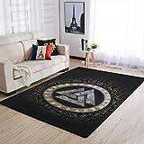 Bannihorse Alfombra de lujo para interiores y exteriores, moderna, para dormitorio, salón, color blanco, 91 x 152 cm