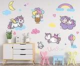 Unicorn Bedroom Decor for Girls: Unicorn Decals for Baby Room, Girls Bedroom and Nursery Wall Decor, Unicorn Wall Decals Decoration for Kids and Toddlers Room.