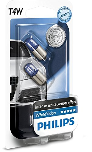 Philips WhiteVision Xenon-Effekt T4W Autolampe 12929NBVB2, Doppelblister
