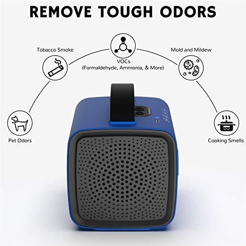 Airthereal PA50-GO - Generador de ozono portátil, inalámbrico, funciona con pilas, elimina los olores del coche, de viaje, en el zapatero y otros espacios pequeños (azul)