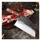 Jian Cuchillo de Carnicero Profesional, Cuchillo de Cocina, Cuchillo de Chef de Acero Inoxidable, Forjado a Mano, para Picar Huesos y Carne congelada