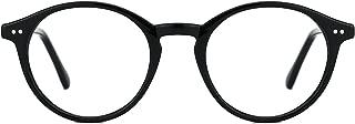 TIJN Blue Light Blocking Glasses Men Women Vintage Thick Round Rim Frame Eyeglasses