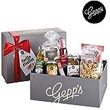 Gepp's Feinkost Bella Italia Geschenkbox | Geschenkkorb gefüllt mit italienischen Delikatessen, hergestellt nach eigener Rezeptur | Köstliches Gourmet-Geschenk für Männer und Frauen (Bella Italia)