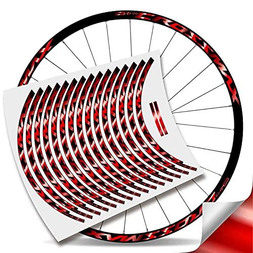 Kit Pegatinas Bicicleta Stickers LLANTA Mavic Crossmax Pro Carbon 29'' MTB BTT B (Rojo Cromo)