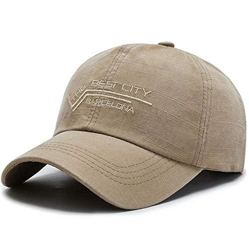 Herren Kappe Hut Einfarbige Stickerei Baseballmütze Einfache Mode Hip-Hop-Hut Männer Und Frauen Outdoor-Freizeitsportkappe-Khaki_55-60