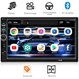 Double Din Car Stereo WZTO Car Stereo Compatible with 7 inch Touch Screen Double Din Car Stereo Bluetooth Headunit TF USB FM Aux-in Radio Audio Support Backup Rear View Camera Mirror Link &Steering Wh