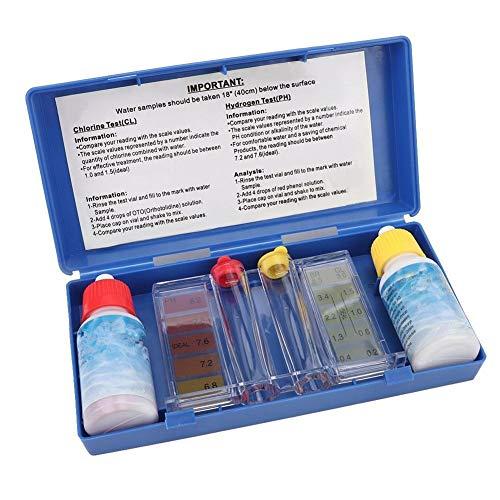Solomi Watertestkit voor zwembaden, waterkwaliteit, PH chloor testbox