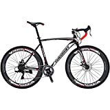 Eurobike Road Bike EURXC550 21 Speed 54 cm Frame 700C Wheels Road Bicycle Dual Disc Brake Bicycle...