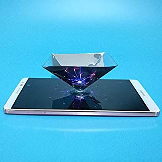 ALEMINN 3D Holographic Phone Projector Displayer, Smartphone Hologram Projector, 3D Screen Hologram Pyramid Display Holographic Showcase Stars Hologram Projector for DIY