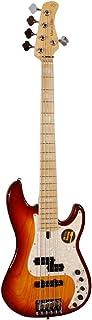Sire Marcus Miller P7 Swamp Ash-5 TS Bass Tobacco Sunburst - Set de 5 cuerdas para bajo (con pastilla de precisión Marcus Miller, 3 preamplificadores activos, cuerpo de madera de arce)