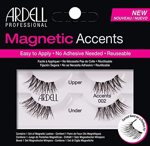 ARDELL Magnetic Series (Accents 002) 1 Paar magnetische Wimpern mit einem magnetischen Wimpernband, magnetischen Applikator ohne Klebstoff, wiederverwendbar