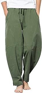GNYD Bottoms Sportiva Leggings Alta Elasticita Cargo Moda Pantaloni Lunga Estivi da Uomo Elegante Taglie Forti Pants Gamba Larga Casual in Lino Tinta Unita M-XXXXXL