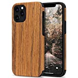 Tasikar Compatible with iPhone 12 Case/iPhone 12 Pro Case Easy Grip with Wood Grain Design Slim Hybrid Case Compatible for iPhone 12 & iPhone 12 Pro (Redwood)