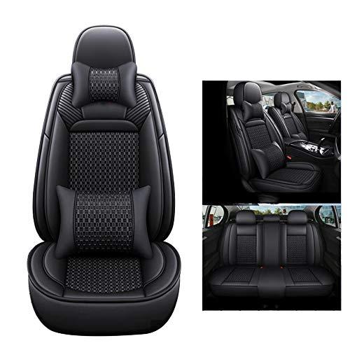 HRFHLHY Vorder- und Rücksitze 5 Sitzkissen, Schmutz-Beweis-Auto-Sitzbezüge, kompatibel mit Ford,Schwarz,Mondeo