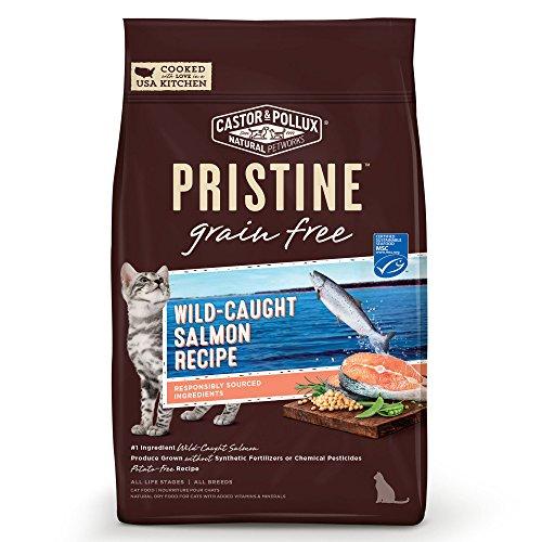 Castor & Pollux Pristine Wild-Caught Salmon Recipe Dry Cat Food, 10 Lb