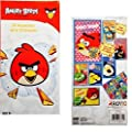 34 Angry Birds Valentines with 35 Stickers