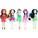 ONEST 5 Sets 9 Inch Monster Girl Dolls Include 5 Pieces Girl Monster Dolls, 5 Pieces Handmade Doll Clothes, 5 Pairs of Doll Shoes