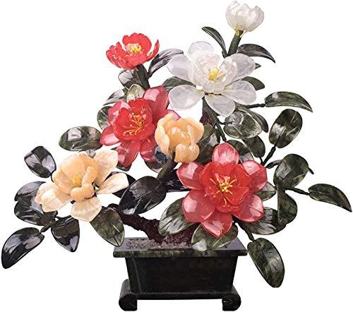 ghjk Plantas en Maceta Artificiales, Peony Bonsai Planta Artificial Decoración de la Planta Sala de Estar Entrada Artificial Bonsai Decoración de Escritorio Faux Potted Plant Gift Gift