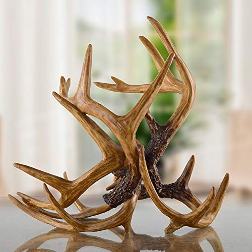 Estante de vino vintage escultura vino titular decorativo resina astas botella barware ornamento arte accesorios