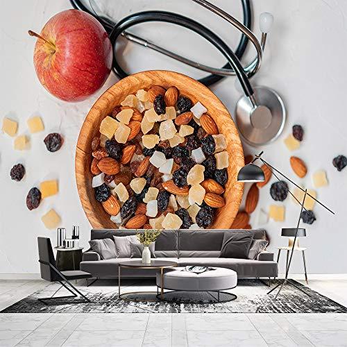 HF-LCZY Wandmalereien Für Schlafzimmer, Wandmalereien Fernseher, Nüsse, Früchte, Wandmalereien Wallpaper, Wandmalereien Tapeten, 288x190cm