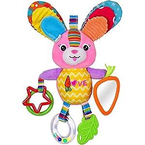 Dreamsbox Felpa del bebé del Coche de bebé del Cochecito Cochecito Cuna Juego Juguete Colgante del Interactivo y Educativo Juguete de la Mariposa (Conejo)
