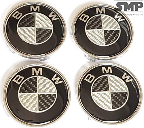 SMP® 4X 68mm Carbon Nabenkappen für BMW, Felgendeckel, Nabendeckel, Nabenabdeckungen, Nabenkappe, Radnabendeckel, Radnabenabdeckung, Felgenkappen, Centercaps, Centre hub caps, 36136783536/36122455269